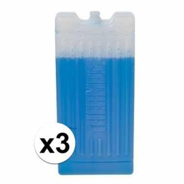 3x koelelementen thermos 1 kilo 16 x 9 x 3 cm