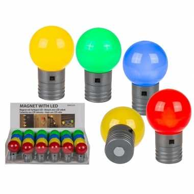 Blauw magneet led lampje 4 5 cm