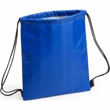 Blauwe koeltas rugzak 27 x 33 cm