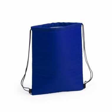 Blauwe koeltas rugzak 32 x 42 cm
