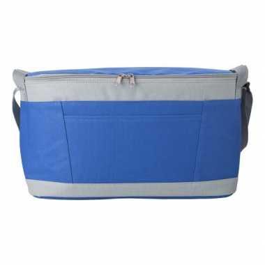 Grote koeltas blauw/grijs 18 liter