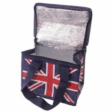 Kleine koeltas union jack united kingdom print voor 6 sixpack