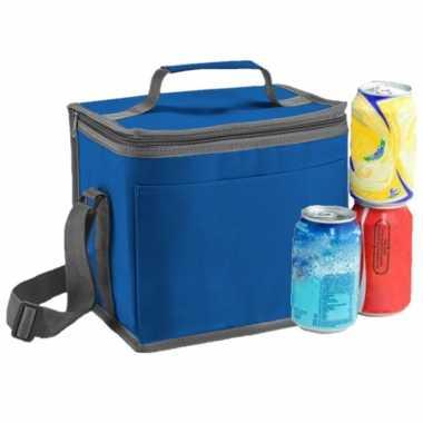 Kleine koeltas voor lunch blauw 24 x 22 x 17 cm 9 liter