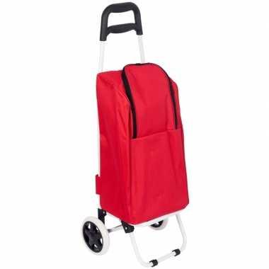 Koeltas boodschappentrolley rood 25 liter