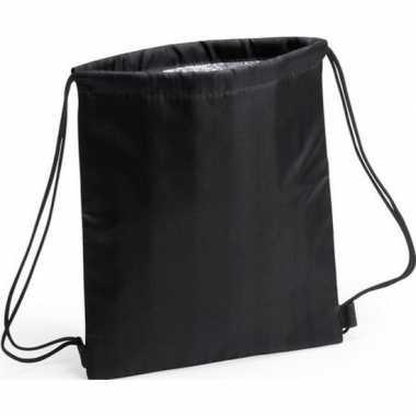 Zwarte koeltas rugzak 27 x 33 cm