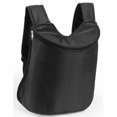 Zwarte koeltas rugzak 40 cm 23 liter