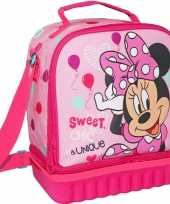 Kleine koeltas voor lunch roze met minnie mouse print 24 x 12 x 20 cm 5 liter